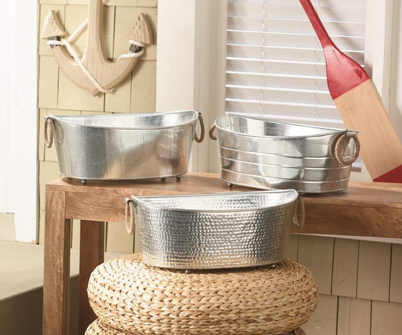 Tub with Jute Handle