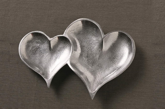 Two Hearts Textured Tray