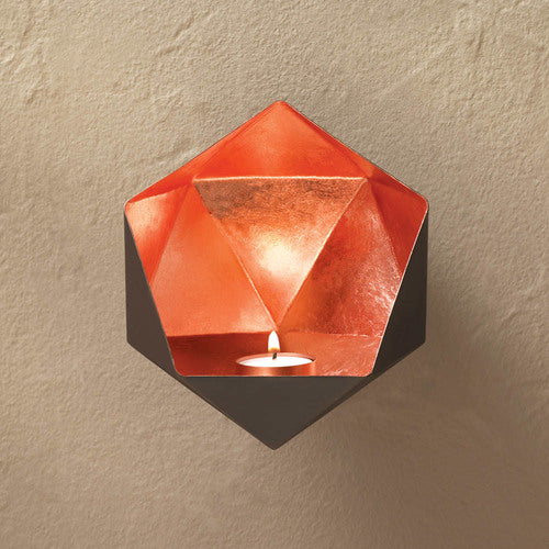Copper Geometric Shape Candle Sconce