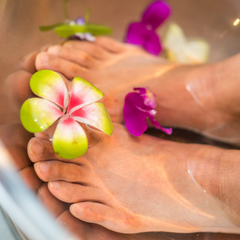 Soak your dry feet to help with cleaning and moisturizing