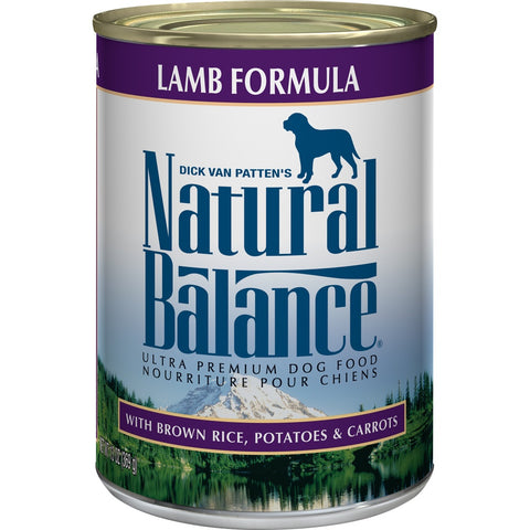 Natural Balance Ultra Premium Lamb Formula Canned Dog Food