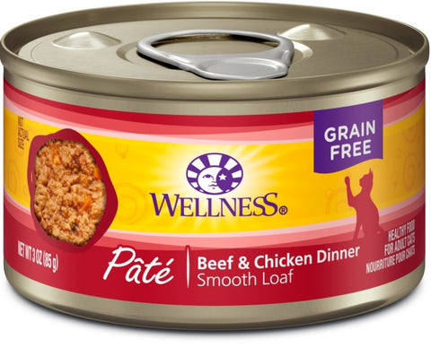 Wellness Complete Health Natural Grain Free Beef and Chicken Pate Wet Canned Cat Food