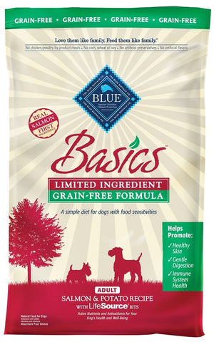 Blue Buffalo BLUE Basics Grain Free Adult Salmon and Potato Recipe Dry Dog Food