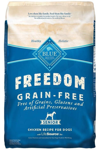 Blue Buffalo Freedom Senior Chicken Recipe Dry Dog Food