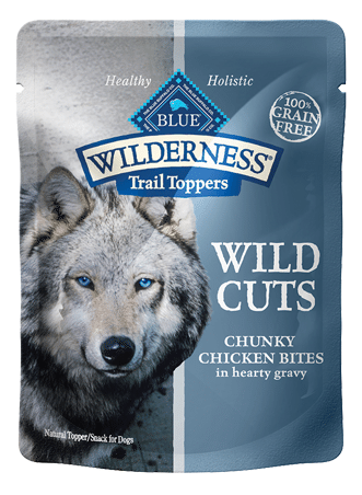 Blue Buffalo Wilderness Wild Cuts Trail Toppers Chunky Chicken Bites in Hearty Gravy Dog Food Pouch