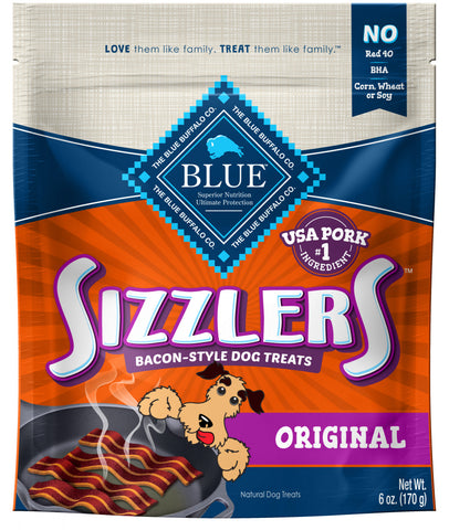 Blue Buffalo Sizzlers Bacon-Style  Dog Treats