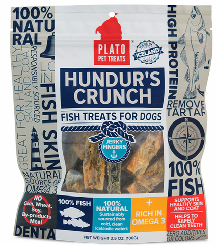 Plato Hundur's Grain Free Crunch Jerky Fingers Dog Treats