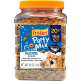 Friskies Party Mix Crunch Beachside Shrimp, Crab and Tuna Cat Treats