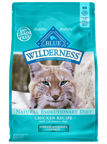 Blue Buffalo Wilderness Adult Indoor Hairball Grain-Free Chicken Dry Cat Food