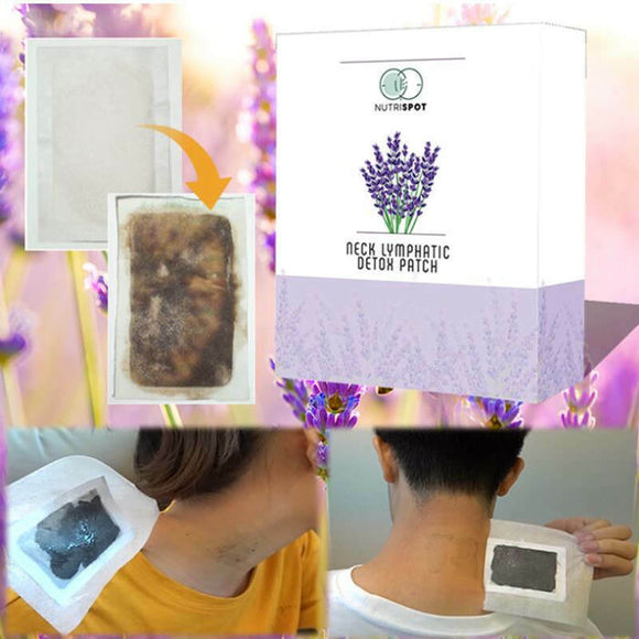 10 patches/Box Nutrispot Neck Lymphatic Detox Patch Anti-Swelling improve Sleep