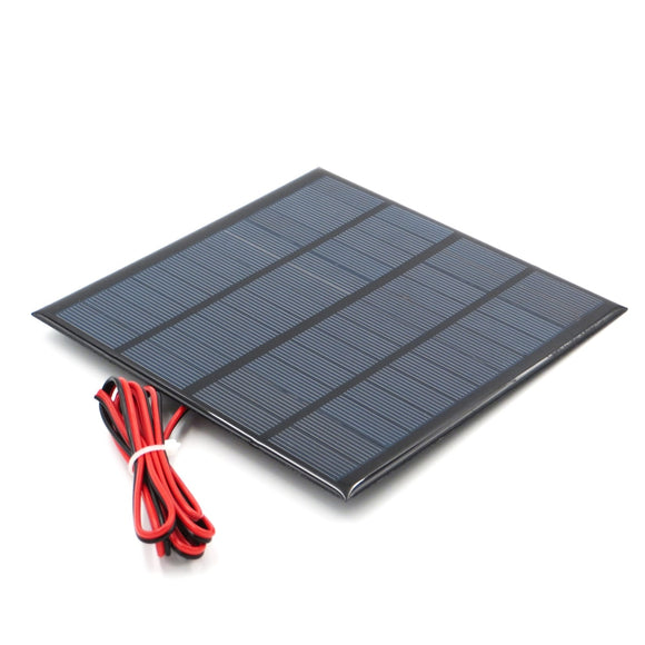 12V 18V Solar Panel with 100/200cm wire Mini Solar System DIY For Battery Cell Phone