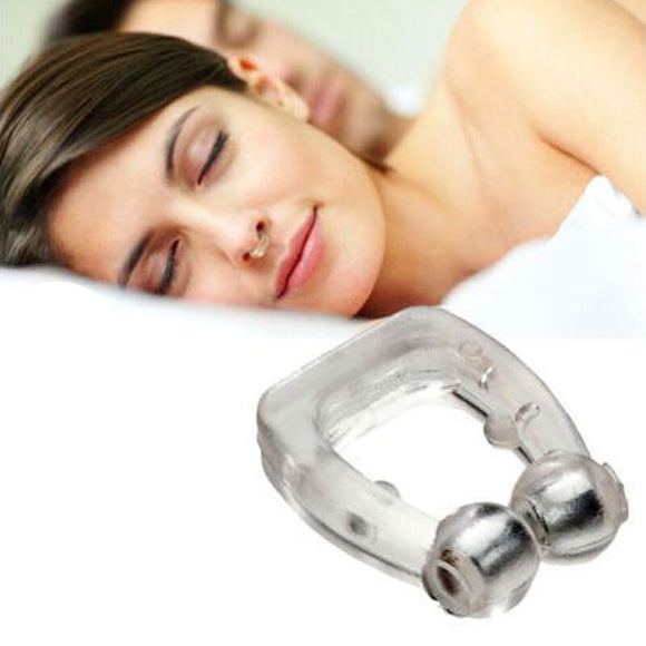1PC Silicone Magnetic Anti Snore Nose Clip Stop Snoring Sleep Tray Sleeping Aid Clips
