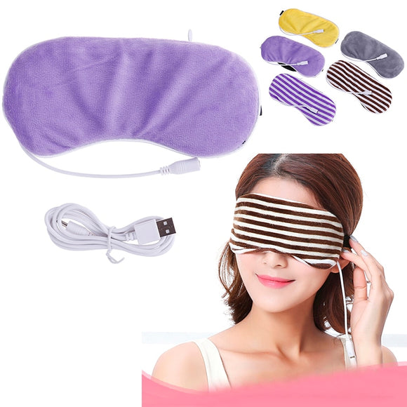 USB Heating Steam Eyeshade Sleep Eye Shade Mask Anti Dark Circle Eye Patch Massager