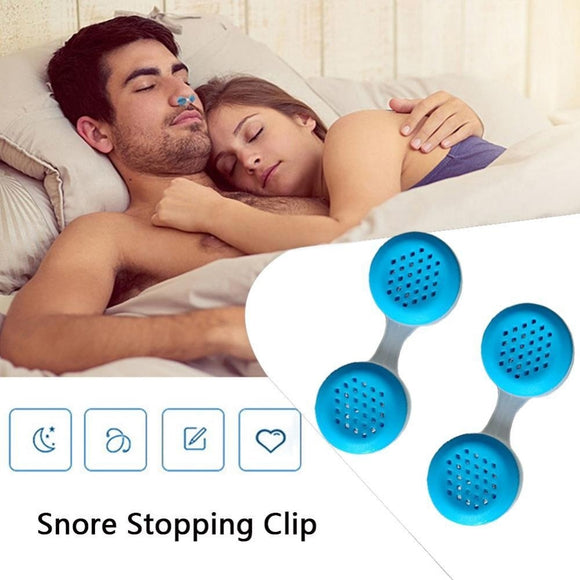 2 Pairs Anti Snoring Sleep Apnea Air Purifier Nose Breathing Aid Apparatus Mini Nose Buds