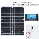 20w 18v Flexible Solar Panel DIY Module Panel Crocodile Clip Connector High Efficiency