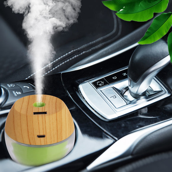 300ml Car Air Humidifier 3 In 1 Aroma Essential Oil Diffuser Wood Grain Mist Maker