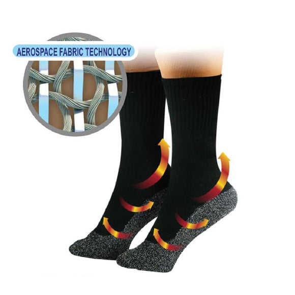 35 Degrees Thermal socks set of 1-2-3 - Aluminized Fibers Supersoft Unique Ultimate