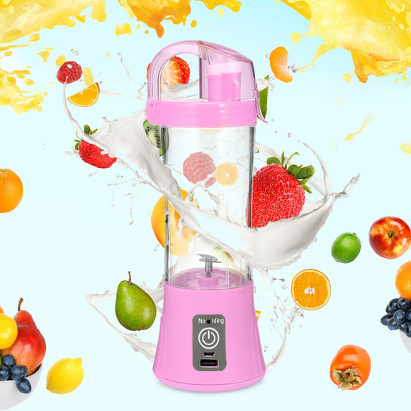 380ml Portable Blender Juicer Cup USB Rechargeable Electric Juice Maker