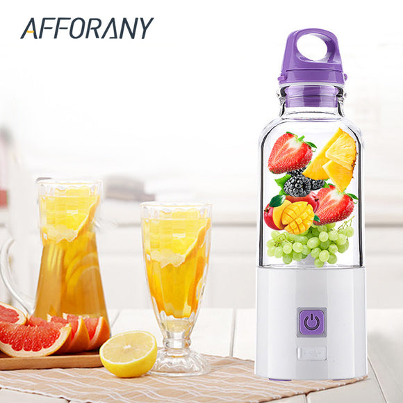 500ml Manual Electric Juicer Cup Water Bottle USB Charge DIY Electric Juice Maker
