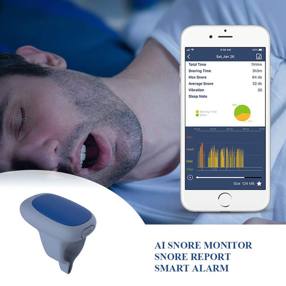 AI Snore Stopper Smart Anti Snoring Device with Silent Vibration Alert