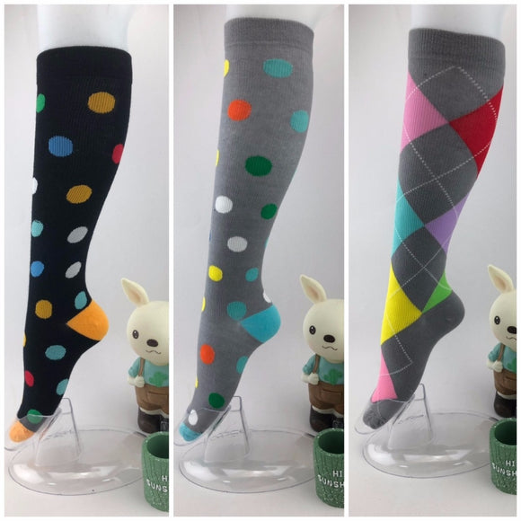 Compression stockings high quality Outdoor sport Various patterns bright  and rich in color