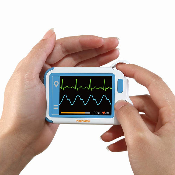 ECG Monitor, HeartMate-Lite Heart Health Tracker Detect Atrial Fibrillation in Plam