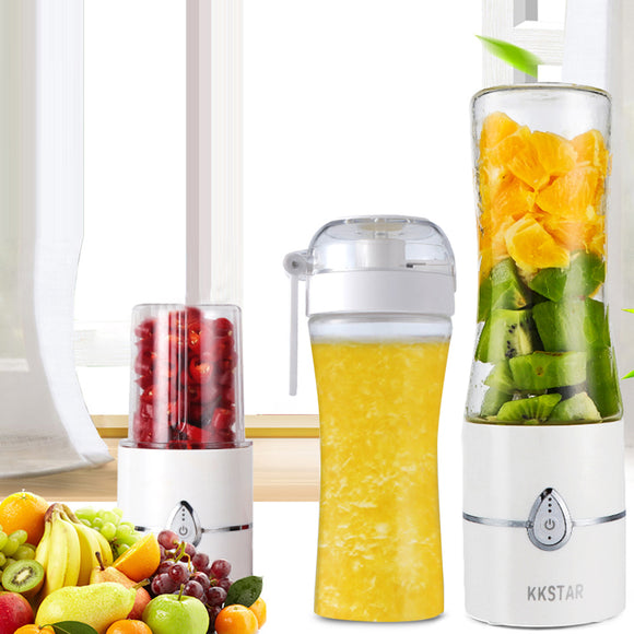 Electric Portable Juicer Fruit Vegetable Juice Mixer Cup USB Rechargeable Fruit Ice