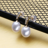 FENASY 18k Gold Earrings Pearl jewelry 18K Gold Pendant Pearl Jewelry Necklaces