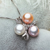 Freshwater Pearl Jewelry ,muticolor white fashion trendy necklace Wedding Jewelry Set