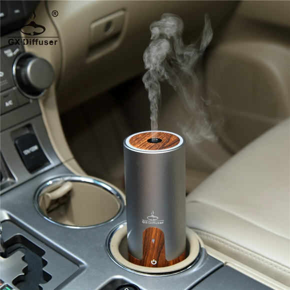 GX.Diffuser Portable Car USB Ultrasonic Humidifier Essential Oil Diffuser Aroma Diffuser