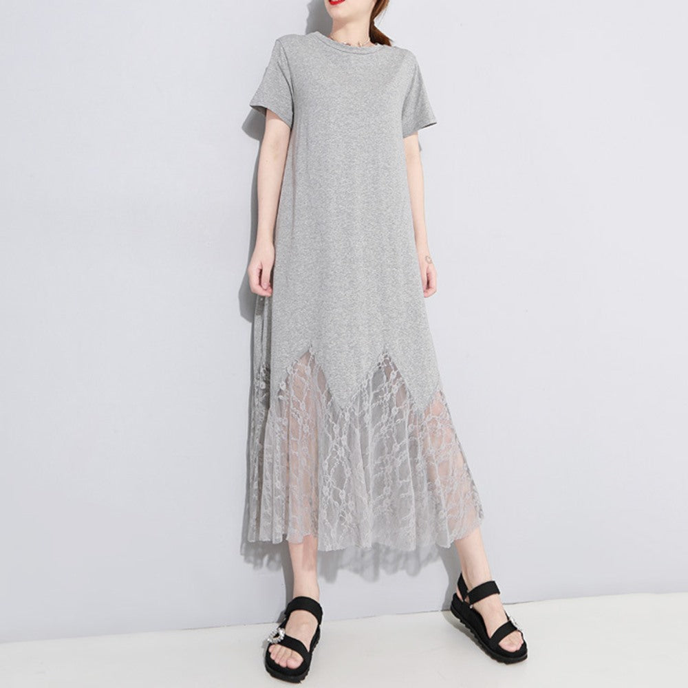 246b72957e ... Gothic Black Lace Hollow Shirt Dress Women Solid Pullover Angel Wings  ...