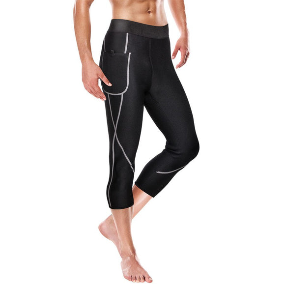 Gotoly 3/4 Men Sauna Hot Thermo Neoprene Sweat Pants for Weight Loss