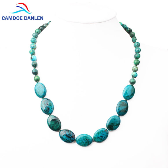 New 7 Styles Fine Jewelry Natural stone necklace Bohemia Malachite 48cm