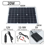 Hot Kinco Solar Panel 12V 20W USB Monocrystalline Solar Panel with Car Charger