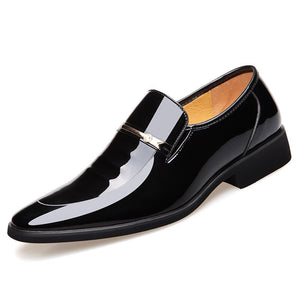 Men Dress Brogue Shoes Luxury Brand Genuine Leather Formal