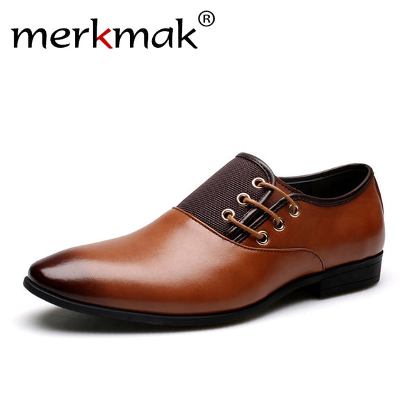Men Wedding Dress Shoes Black Brown Oxford Shoes Formal Office Business British