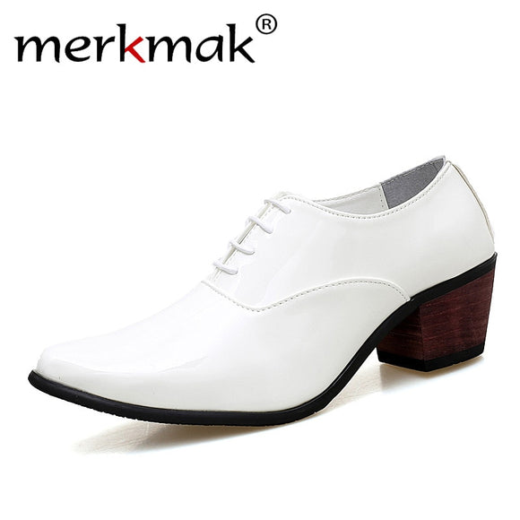 Men Patent Leather Oxford Shoes Fashion Dress Wedding Groom Shoes Breathable