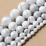 Natrual Stone Beads White Turquoise Howlite Stone Round Beads 4/6/8/10/12/14mm 15inches