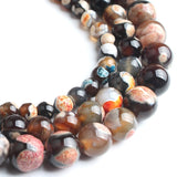 Natural Orange Coffee Fire Agate Diy Gemstone Beads Round Loose Spacer Beads Size 6 8 10mm