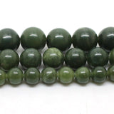 Natural Stone Beads AAA+ Genuine Canada Jade Beads 15inch 6/8/10/12mm