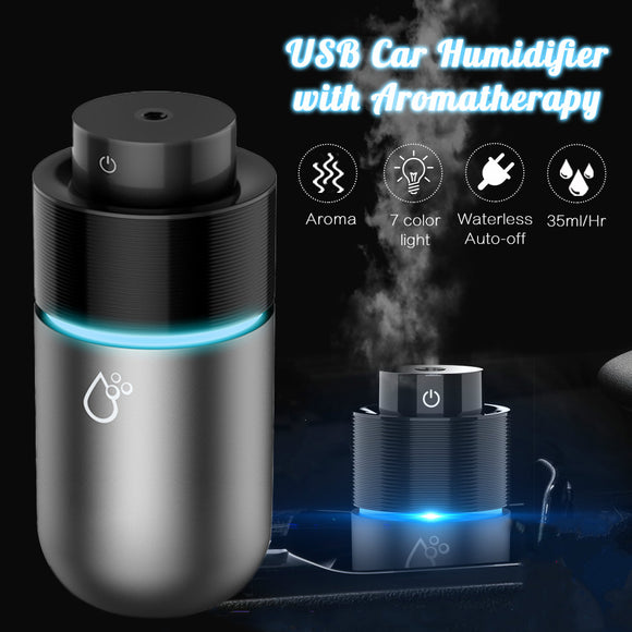 Portable USB Air Humidifier Mini Ultrasonic Essential Oil Diffuser LED Lights Aromatherapy