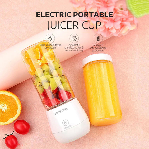 Rechargeable Electric Portable Juicer Fruit Vegetable Juice Mixer Six-Leaf Blade Fruit