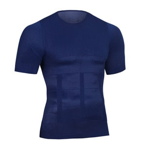 Shapers Men Summer Slimming Body Shaper Waist Girdle Tee Shirt Casual  Quick Dry