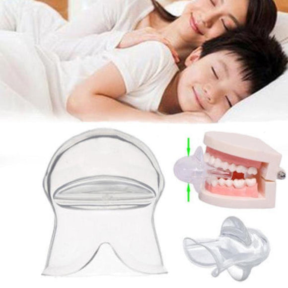 Silicone Anti Snore Tongue Device Food Grade Tongue Cover Apnea Guard Aid