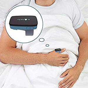Sleep Oxygen Monitor Alarm for Sleep Apnea - Replace Fingertip Pulse Oximeter for CPAP Machine
