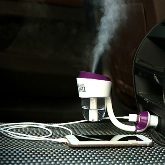 The second generation with USB charging port car air purifier steam humidifier aromatherapy