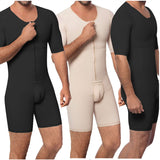 Waist Trainer Men Shapewear Open Crotch Front Zipper Sexy Bodysuit Butt Lifter Male