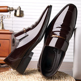 Men Dress Shoes PU Leather formal business Shoes pointed
