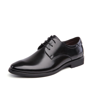 Men's Brand Leather Formal Shoes Lace Up dress shoes Oxfords Fashion Retro Shoe