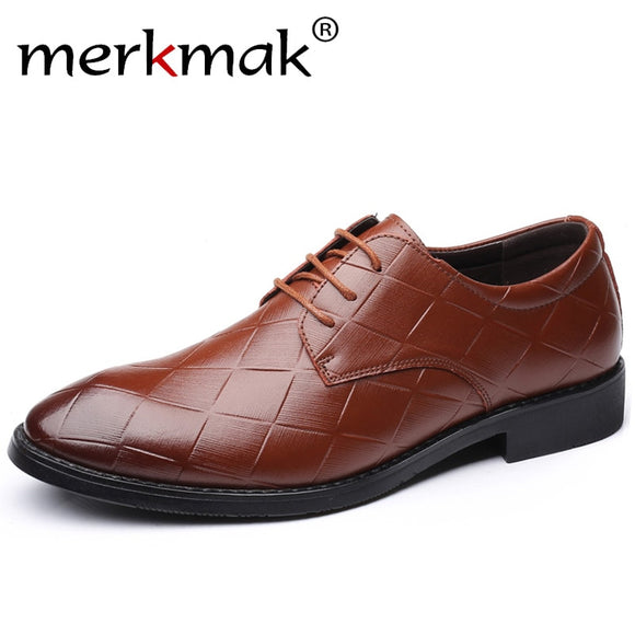 merkmak Spring Autumn Men Formal Wedding Shoes Luxury Men Business